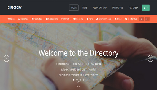 Joomla template for Directory website