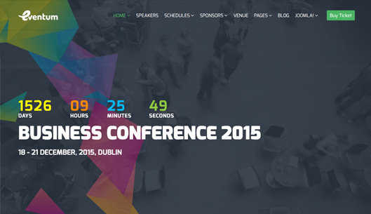 Responsive Event & Conference Joomla Template