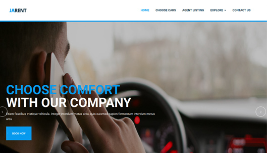 Joomla template for Vehicles Rental Service
