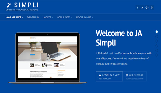 The best Free Joomla Template