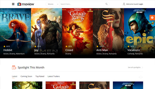 Movie Database & Review Joomla Template