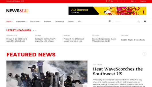 News, Magazine Joomla Template